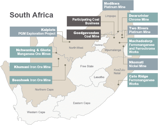 South Africa locations [map]